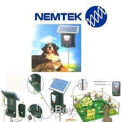Clôture Électrique À Batterie Kit De Confinement Pour Chien Protection Du Jardin Pratique
