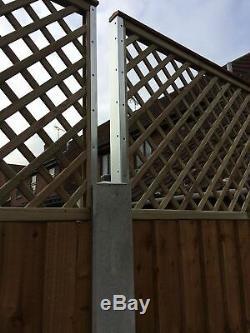 Clôture Hauteur Bras D 'extension Pour Panneaux Trellis 500m Jardin Une Paire Longue Postfix