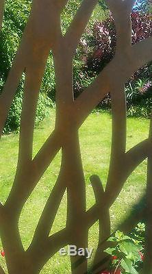 Clôture Idéale En Acier D'écran D'arbre En Métal De Jardin En Métal Rustique Magnifique De 1.8m De Hauteur