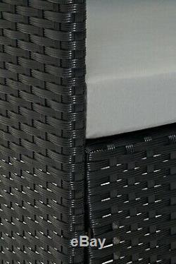 Cosmoliving Black Madrid Mobilier De Jardin En Plein Air Conservatoire Patio Lounge