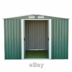 De Jardin En Métal Shed Stockage 2 Portes Apex Toit Extérieur Avec La Fondation Free Base Poids