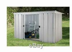 De Jardin En Métal Unité De Stockage Shed Outils Vélo Extérieur Patio 6 X 4 Pieds Portes Verrouillables