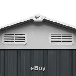 Deuba Hangar À Outils De Jardin En Métal 10x8ft Magasin Extérieur Apex Roof Utility Nouveau