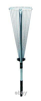 Deux Outils Télescopiques De Jardinage De Râteau De Feuille De Jardinage Télescopiques Extensibles Jusqu'à 134cm