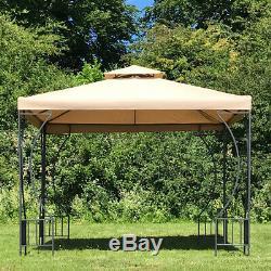 Dorset Gazebo De Jardin En Métal (2,9 X 2,9 M De) Pavillon Auvent Pare-soleil À L'ombre Abri