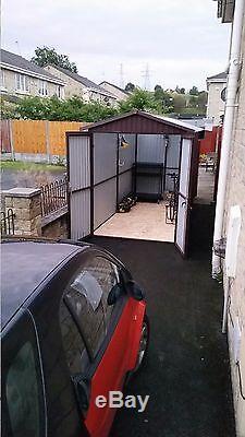 Effacer Le Toit 6x14ft Abri De Jardin Vélo Ou Moto Garage Tous Taille Du Stockage Sûr