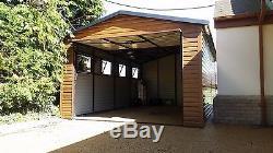 Effet En Bois De Garage Ou De Hangar Pour Voiture, Moto, Équipement De Jardin 12x20ft