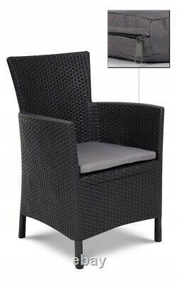Ensemble De Meubles De Jardin 3 Pièces Chaise Table Coussin Keter Extérieur Patio Balcon Royaume-uni