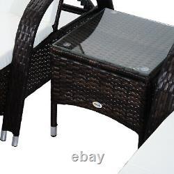 Ensemble De Table De Chaise De Canapé Pour Salon De Soleil De Rattan Meubles De Patio Inclinables De Jardin