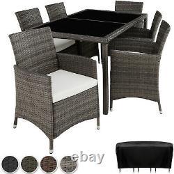 Ensemble Rattan Garden Furniture 6 Chairs Table Dining Roomo Patio Outdoor Wicker Nouveau