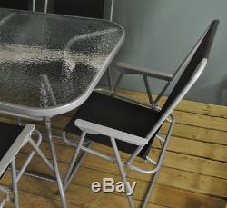 Ensemble Table Et Chaises Pour Meubles De Jardin En Métal Avec Chaises Pliantes (8 Pièces)