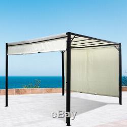 Extérieur Auvent Pare-soleil Ombre 3mx3mx2.3m Patio Jardin Gazebo Toit Réglable