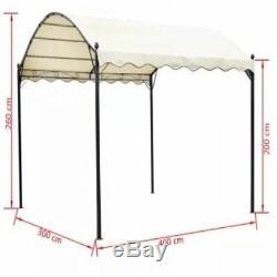 Extérieur Gazebo Abri Abri De Voiture Abri Barbecue Jardin Canopy Patio Métal Pont Cover