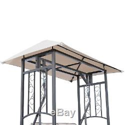 Fauteuil De Balançoire À Baldaquin Auvent Extérieur Pour Deux Places En Plein Air Avec Jardin