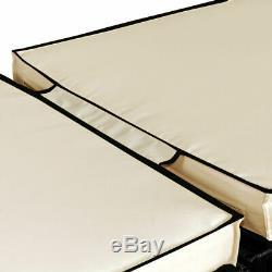 Fauteuil Inclinable Extérieur En Polyester Avec Chaises Longues En Rotin Pour Chaise Longue Au Jardin