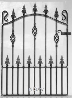 Fer Forgé Métal Garden Gate / Portes-top Qualité Pour Adapter 3ft (914mm) Ouverture