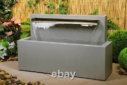 Fontaine Moderne D'eau De Jet De Chute D'eau De Lame En Acier Inoxydable Cascade 70cm