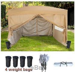 Foxhunter 3x3m Étanche Pop Up Gazebo Chapiteau Jardin Auvent Tente Canopy