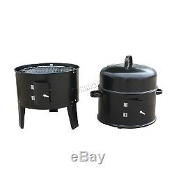 Foxhunter Noir Barbecue Barbecue Au Charbon Barbecue Fumeur Jardin D'extérieur En Acier Cuisine