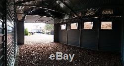 Garage En Métal Effet Bois Pour Voiture, Remise De Moto, Équipement De Jardin 13x18ft