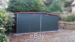 Garage En Métal Sécurisé Pour Voiture, Garage À Motos, Équipement De Jardin 18x18ft