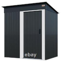 Gardebruk Metal Garden Shed Storage Tool Organizer Box Conteneur 181x162x86cm