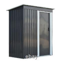 Garniture De Jardin En Métal Gris 3ft X 5ft Toit D'outdoor Outils De Stockage