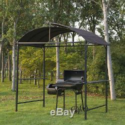 Gazebo Chapiteau Auvent Auvent Abri Jardin Terrasse Tente Barbecue Grill Noir