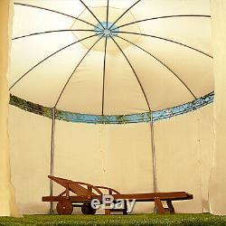 Gazebo De Jardin Ø350cm Tente De Fête Ronde Chapiteau En Plein Air Mariage Pop Up Canopy