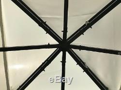 Gazebo De Jardin Ecru Party Shelter Patio Shade Extérieur Auvent De Soleil 3m X 3m