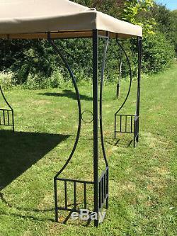 Gazebo De Jardin En Métal Dorset (2,9 X 2,9m) Abri Du Pavillon Auvent Abri Du Soleil
