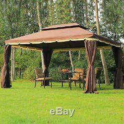 Gazebo En Métal Aluminium Outsunny De Jardin Marquee Party Tente Canopy Pavillion