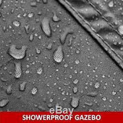 Gazebo Garden Gazebo Pavilion Imperméable Enduit De Douche 3x3 Mtr Gris Graphite Bexley