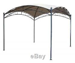 Gazebo Métal Victorien 3x3m Chapiteau Canopy Abri Pour Pare-soleil Dans Le Jardin / Patio