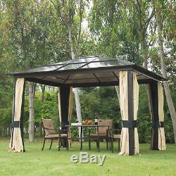Gazebo Patio Canopy Party Chapiteau Couvercle Extérieur Jardin Pavillon Abris Événement