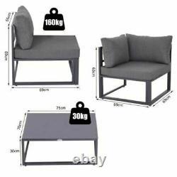 Grand 5 Sièges Corner Sofa Chairs Garden Set Coffee Table Outdoor Patio Furniture