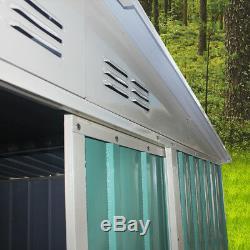 Grand 8x10ft Abri De Jardin Extérieur Métal Apex Toit Stockage Avec Free Foundation Uk