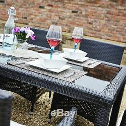 Grand Ensemble De Table À Manger Chaises De Jardin En Rotin 6 Chaises Et Coussins De Jardin