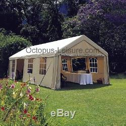 Grand Gazebo De Jardin Robuste, Chapiteau, Mariage, Tente De Parking 9 X 4 M (taupe)