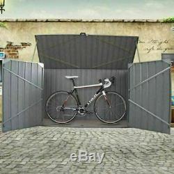 Grand Jardin En Acier Galvanisé Shed Métal Outils Unité Vélo Local À Vélos Local