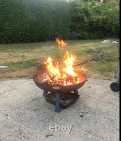 Grand Jardin Fire Pit Outdoor Patio Camping Cast Iron Bowl Log Burner Heater