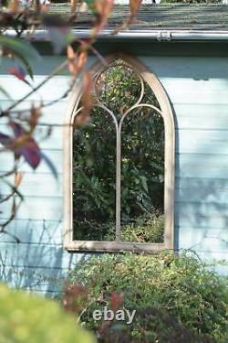 Grand Miroir De Jardin Rustique Extérieur Église Miroir En Métal 3ft8 X 2ft 112cm X 61cm