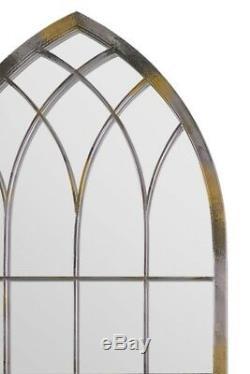 Grand Miroir Mural Extérieur Maison Et Jardin Design Rustique 5ft3 Métal X 2 Pi 4 161