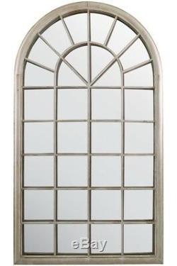 Grand Miroir Mural Rustique Style Français Arquéesles Fenêtre Jardin Extérieur 5ft3 X 3 Pi