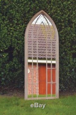 Grand Miroir Mural Style Gothique Arquéesles Extérieur Jardin 4ft11 X 2 Pi