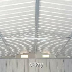 Grand Shed Métal Extérieur Heavy Duty Jardin Tondeuse À Gazon Garage Outil Vélo De Stockage