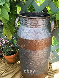 Grand Vintage Style Lait Churn Tall Garden Planter Plant Pot Container Nouveau