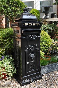 Grande Boîte Postale / Boîte Aux Lettres En Aluminium Noir Boîte Postale Grand Post Box Noir