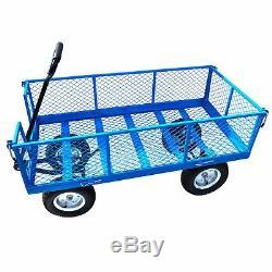 Grande Brouette Résistante De Chariot À Camion De Chariot De Jardin Métallique En Métal