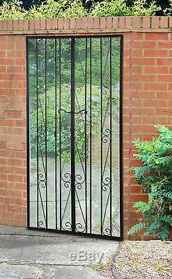 Grande Porte Acrylique Noire D'illusion De Jardin En Métal De Miroir D'effet De Porte